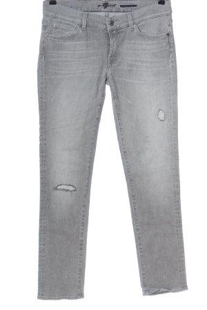 7 For All Mankind Jeans coupe-droite gris clair style décontracté