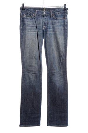 7 For All Mankind Jeans met rechte pijpen blauw straat-mode uitstraling