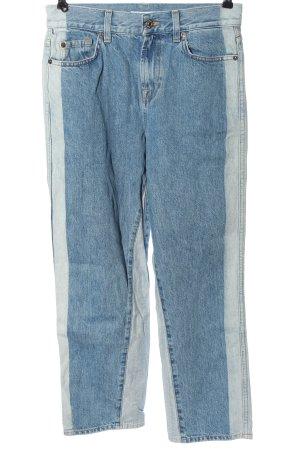 7 For All Mankind Jeansy z prostymi nogawkami niebieski-jasnoszary