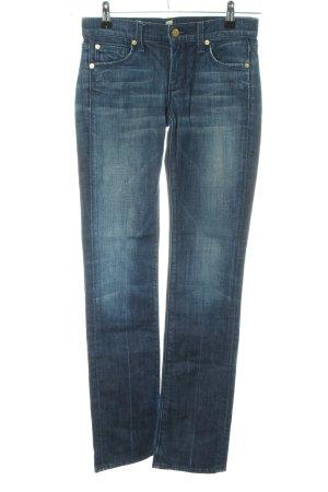7 For All Mankind Jeansy z prostymi nogawkami niebieski W stylu biznesowym