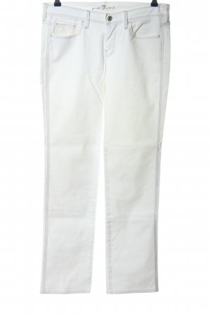 7 For All Mankind Straight-Leg Jeans weiß Casual-Look