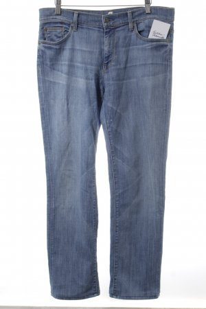 7 For All Mankind Straight-Leg Jeans blau Logostickerei