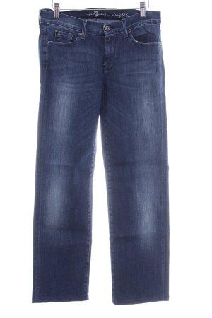 7 For All Mankind Jeansy z prostymi nogawkami niebieski Sprane wykończenie