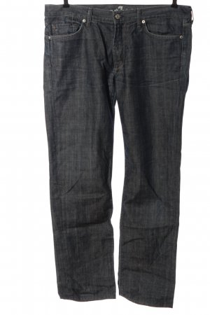 7 For All Mankind Straight-Leg Jeans hellgrau meliert Casual-Look