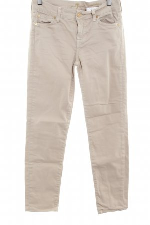 7 For All Mankind Straight Leg Jeans cream simple style