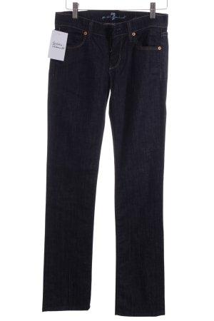 7 For All Mankind Jeansy z prostymi nogawkami ciemnoniebieski Jeansowy wygląd