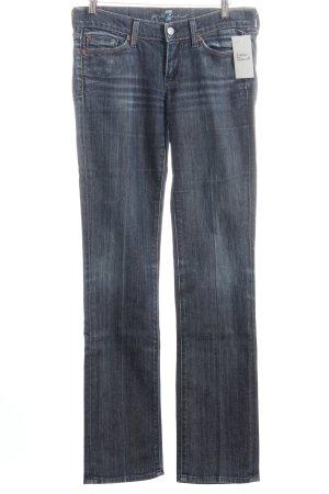 7 For All Mankind Straight-Leg Jeans dunkelblau klassischer Stil