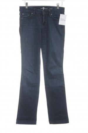 7 For All Mankind Straight Leg Jeans dark blue street-fashion look