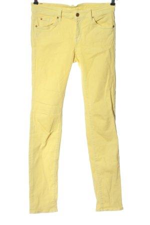 7 For All Mankind Slim Jeans blassgelb Casual-Look