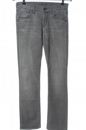 7 For All Mankind Straight-Leg Jeans hellgrau Casual-Look