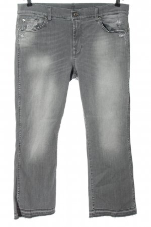 7 For All Mankind 7/8 Length Jeans light grey casual look