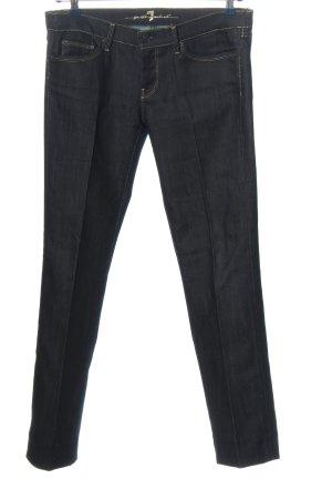 7 For All Mankind Jeans a gamba dritta nero-blu stile casual