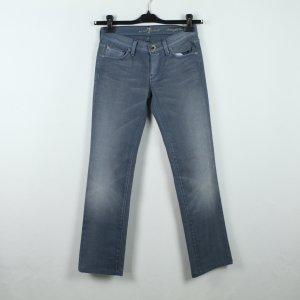 7 For All Mankind Jeansy z prostymi nogawkami niebieski Bawełna
