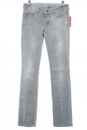 7 For All Mankind Straight-Leg Jeans hellgrau Glitzer-Optik