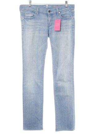 7 For All Mankind Jeans met rechte pijpen azuur casual uitstraling