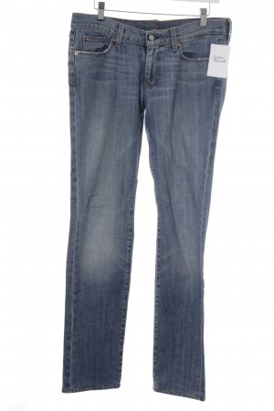 7 For All Mankind Jeans coupe-droite bleuet tissu mixte