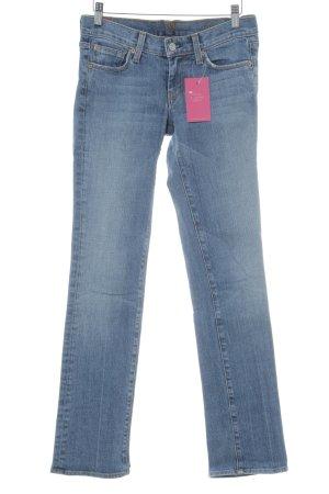7 For All Mankind Jeansy z prostymi nogawkami chabrowy-stalowy niebieski