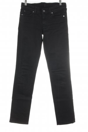 7 For All Mankind Straight-Leg Jeans schwarz-anthrazit Casual-Look