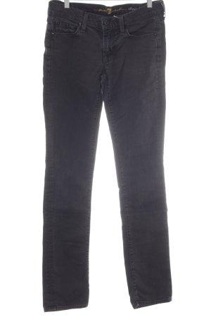 7 For All Mankind Jeansy z prostymi nogawkami czarny Prosty styl