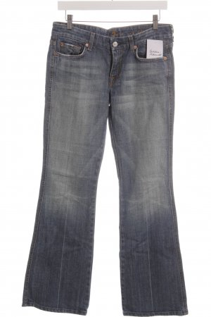 7 For All Mankind Jeans a gamba dritta blu acciaio stile casual
