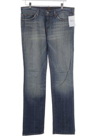 7 For All Mankind Straight-Leg Jeans stahlblau Casual-Look