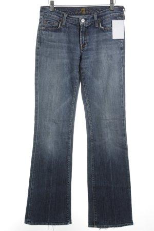 7 For All Mankind Jeans met rechte pijpen staalblauw casual uitstraling