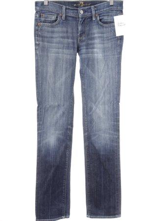 7 For All Mankind Jeansy z prostymi nogawkami stalowy niebieski