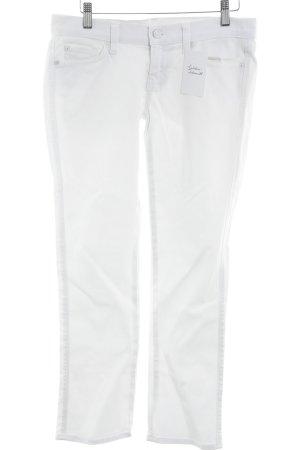 7 For All Mankind Jeansy z prostymi nogawkami biały W stylu casual