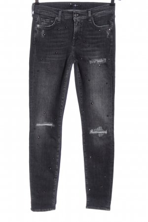 7 For All Mankind Jeans stretch gris clair style décontracté