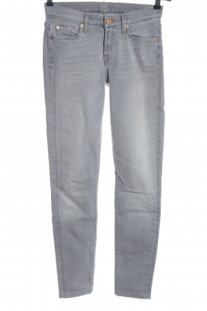 7 For All Mankind Stretch Jeans hellgrau Casual-Look