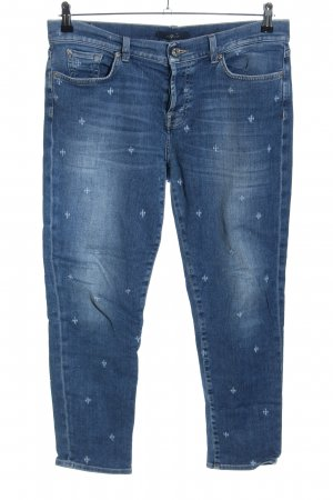 7 For All Mankind Jeans elasticizzati blu Stampa a tema stile casual