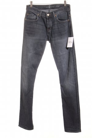 7 For All Mankind Stretch Jeans blue-slate-gray jeans look