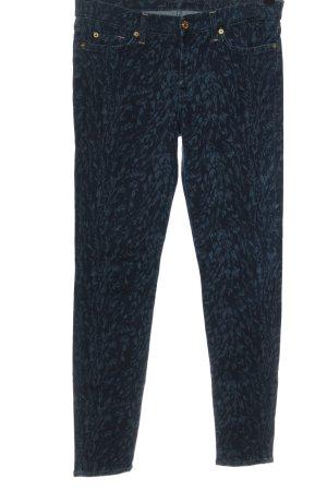 7 For All Mankind Jeans stretch bleu imprimé allover style décontracté
