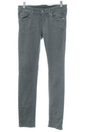 7 For All Mankind Stretch Jeans grau-silberfarben Street-Fashion-Look