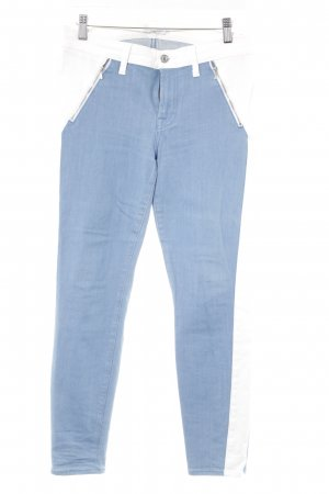 7 For All Mankind Jeans stretch bleuet-blanc style rétro