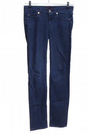 7 For All Mankind Stretchhose blau Casual-Look