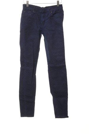 7 For All Mankind Stretchhose blau-dunkelblau Casual-Look