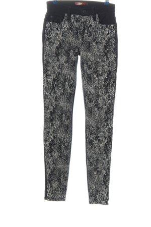 7 For All Mankind Spodnie ze stretchu jasnoszary-czarny Abstrakcyjny wzór