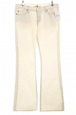 7 For All Mankind Stretch Trousers oatmeal simple style