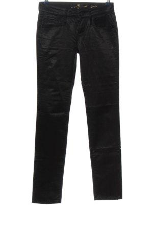 7 For All Mankind Pantalone elasticizzato nero stile casual