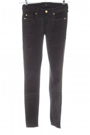 7 For All Mankind Stretchhose schwarz Casual-Look