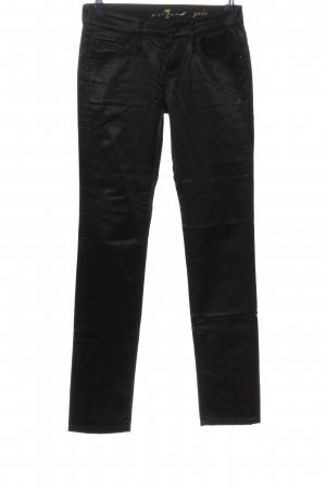 7 For All Mankind Pantalone elasticizzato nero stile casual