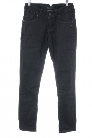 7 For All Mankind Stretchhose schwarz Metallknöpfe