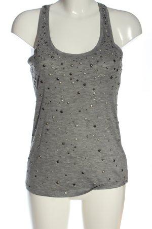 7 For All Mankind Top lavorato a maglia grigio chiaro puntinato stile casual