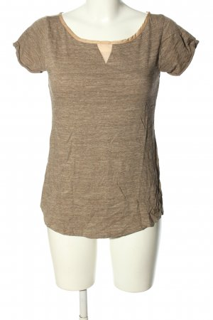 7 For All Mankind T-Shirt braun-creme meliert Casual-Look