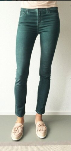 7 For All Mankind Jeans a sigaretta verde scuro Lycra