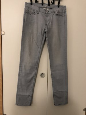 7 For All Mankind Straight Leg Jeans pale blue-slate-gray