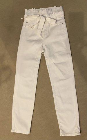 7 for all mankind weiße Paperbag Jeans Gr. 24