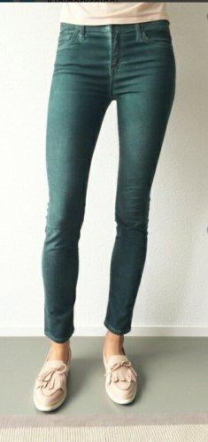 7 For All Mankind Drainpipe Trousers dark green