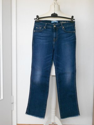 7 For All Mankind Boot Cut Jeans blue cotton